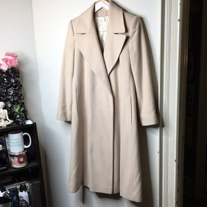 Jacobson's Cashmere Wool Long Trench Coat